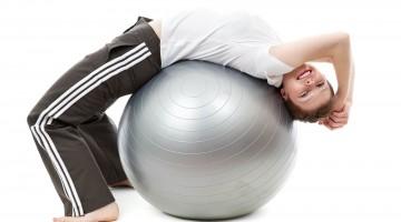 Cviky na gymnastickém míči