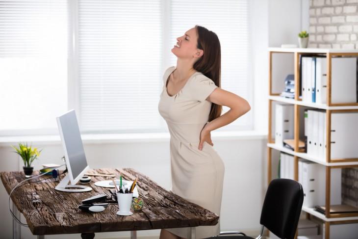 Správný sed a cviky v práci